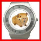 Cute Guinea Pig Pet Stainless Steel Wrist Watch Unisex 043