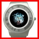 White Tiger Animal Stainless Steel Wrist Watch Unisex 048