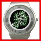MUSIC NOTE Light Cool Hobby Stainless Steel Wrist Watch Unisex 052