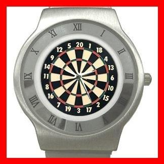 Dart Board Game Stainless Steel Wrist Watch Unisex 054