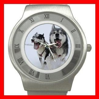 SIBERIAN HUSKY Dog Animal Stainless Steel Wrist Watch Unisex 061