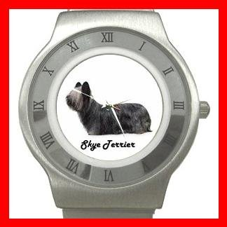 Skye Terrier Pet Dog Animal Stainless Steel Wrist Watch Unisex 066