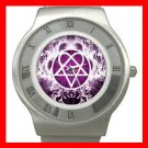 Pink Heartagram Hobby Fun Stainless Steel Wrist Watch Unisex 070