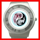 Yin Yang Chinese Dragons Stainless Steel Wrist Watch Unisex 074