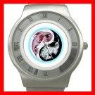 Yin Yang Chinese Dragons Stainless Steel Wrist Watch Unisex 074