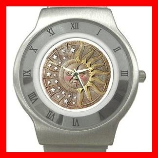 CELESTIAL SUN & MOON Stainless Steel Wrist Watch Unisex 081