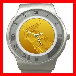 Cockatiel Diamond Eye Stainless Steel Wrist Watch Unisex 085