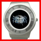 Tiger And Dragon Yin Yang Stainless Steel Wrist Watch Unisex 086