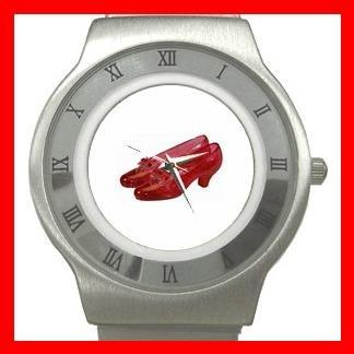 Wizard of Oz Ruby Slipper Stainless Steel Wrist Watch Unisex 095