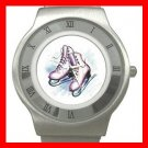 Ice Skating Sports Game Fun Stainless Steel Wrist Watch Unisex 096