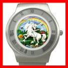 Unicorn Rainbow Myth Fantasy Stainless Steel Wrist Watch Unisex 097