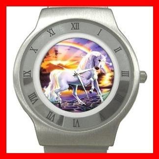 RAINBOW UNICORN Myth Fantasy Stainless Steel Wrist Watch Unisex 101