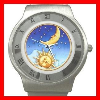 Sun Moon Stars Star Hobby Stainless Steel Wrist Watch Unisex 104