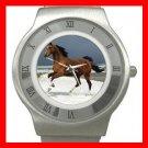 Horse Running on Beach Stainless Steel Wrist Watch Unisex 114