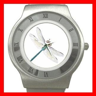 Dragonfly Fly Insect Stainless Steel Wrist Watch Unisex 125