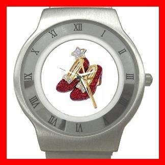 Wizard of Oz Ruby Slipper Stainless Steel Wrist Watch Unisex 128