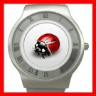 Cute Ladybug Bug Insect Stainless Steel Wrist Watch Unisex 129