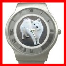 AmericanEskimo Dog Pet Animal Stainless Steel Wrist Watch Unisex 130