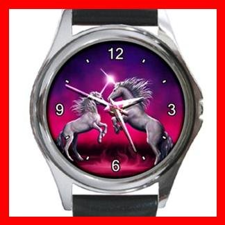 Unicorn Dance Myth Fantasy Metal Wrist Watch Unisex 002