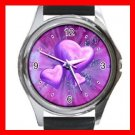 Purple Heart Love Hobby Fun Metal Wrist Watch Unisex 003