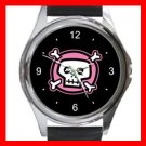 Pink Skull Hobby Metal Wrist Watch Unisex 004