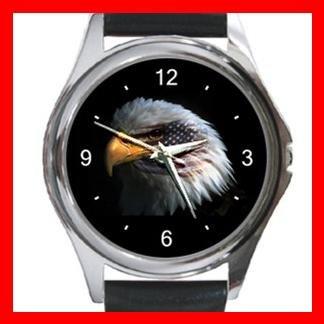 Eagle Eye American Flag Metal Wrist Watch Unisex 005
