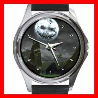 Halloween Moon Myth Holiday Metal Wrist Watch Unisex 007