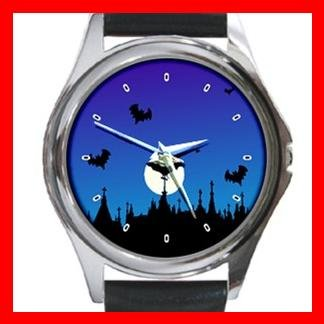 Halloween Graveyard Myth Holiday Metal Wrist Watch Unisex 008