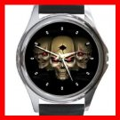 Skull Skeleton Goth Hobby Metal Wrist Watch Unisex 020