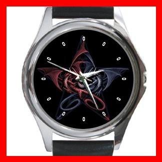 Wicca Pentagram Dragons Metal Wrist Watch Unisex 022