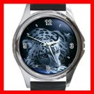 Leopard Wild Animal Metal Wrist Watch Unisex 027