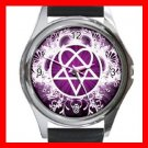 Pink Heartagram Hobby Fun Metal Wrist Watch Unisex 029
