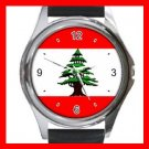 LEBANESE FLAG Hobby Round Metal Wrist Watch Unisex 030