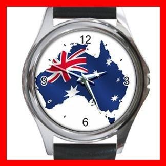 Australian Flag Patriotic Round Metal Wrist Watch Unisex 032