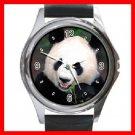 Cute Panda Animal Round Metal Wrist Watch Unisex 046