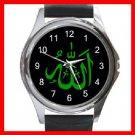Allah Green God ISLAMIC Round Metal Wrist Watch Unisex 049