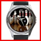Bowling Sport Game Round Metal Wrist Watch Unisex 051