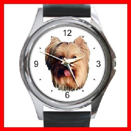 Yorkshire Terrier Dog Pet Animal Round Metal Wrist Watch Unisex 060