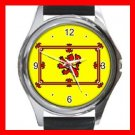 Old Scottish Rampant Lion Flag Round Metal Wrist Watch Unisex 065