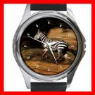 Zebra Horses Animal Round Metal Wrist Watch Unisex 072
