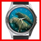 Sea Elephant Round Metal Wrist Watch Unisex 076