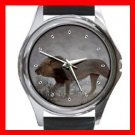 Lion Hunting Animal Round Metal Wrist Watch Unisex 078