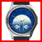 Gallery Swans Round Metal Wrist Watch Unisex 085