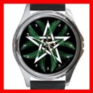 Winter Pentacle Round Metal Wrist Watch Unisex 088