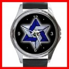 Star Of David Round Metal Wrist Watch Unisex 107