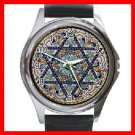 Star Of David Round Metal Wrist Watch Unisex 108