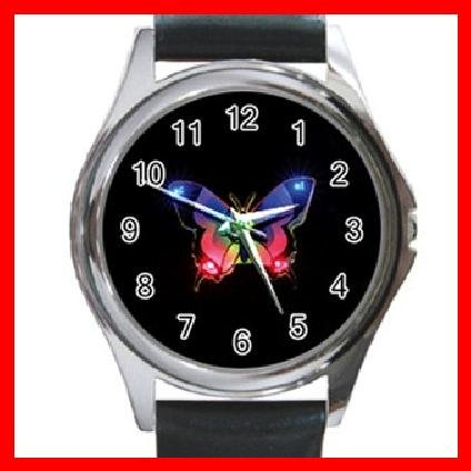 Stunning Butterfly Hobby Round Metal Wrist Watch Unisex 115