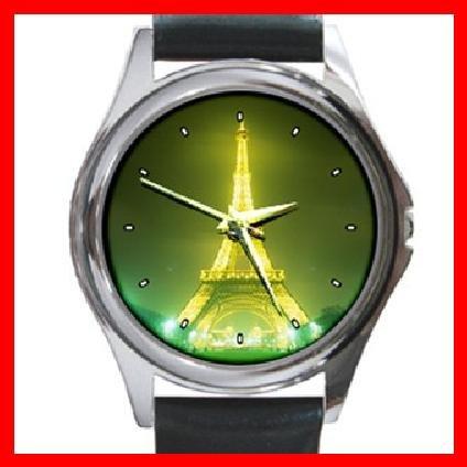 EIFFEL Tower Paris Round Metal Wrist Watch Unisex 120