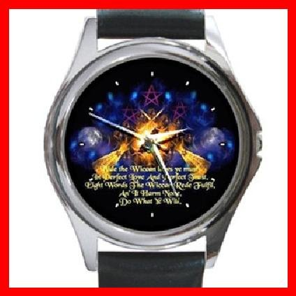 The Wiccan Rede Round Metal Wrist Watch Unisex 128