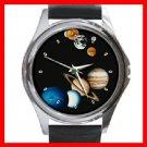 GALAXY Solar System Planets Round Metal Wrist Watch Unisex 135